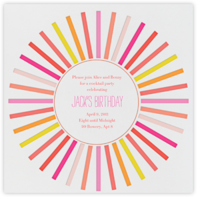 San Diego in the 70s - Pinks - Mr. Boddington's Studio - Birthday invitations