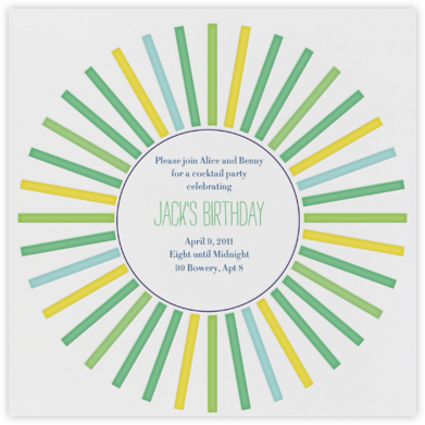 San Diego in the 70s - Greens - Mr. Boddington's Studio - Adult Birthday Invitations