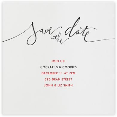 Save the Date (Black) - Linda and Harriett - Business Party Invitations