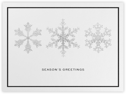 Snow - White - Paperless Post - Holiday Cards