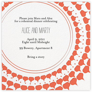 Spec in Capri - Coral  - Mr. Boddington's Studio - Engagement party invitations