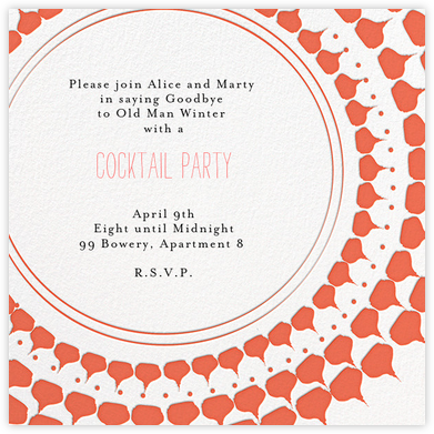 Spec in Capri - Coral  - Mr. Boddington's Studio - General Entertaining Invitations
