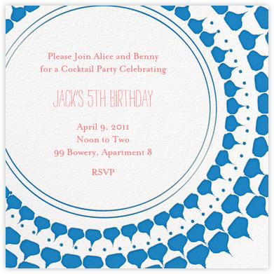 Spec in Capri - Blue - Mr. Boddington's Studio - Online Kids' Birthday Invitations