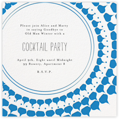 Spec in Capri - Blue - Mr. Boddington's Studio - Pool Party Invitations