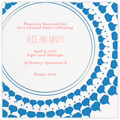 Spec in Capri - Blue - Mr. Boddington's Studio - Engagement party invitations