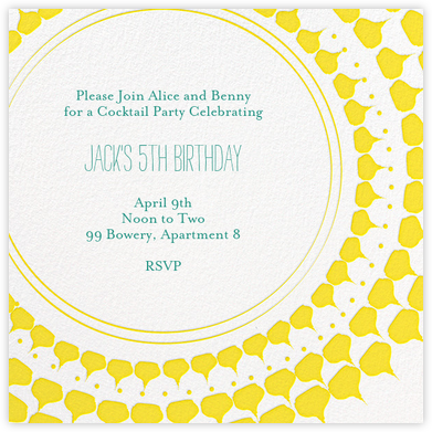 Spec in Capri - Sunshine - Mr. Boddington's Studio - Adult Birthday Invitations