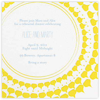 Spec in Capri - Sunshine - Mr. Boddington's Studio - Engagement party invitations