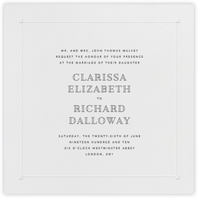 Square Embossed Corners - Blind Embossed (Large Square) - Paperless Post - Wedding Invitations