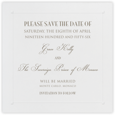Square Embossed Corners - Blind Embossed (Small Square) - Paperless Post - Save the dates