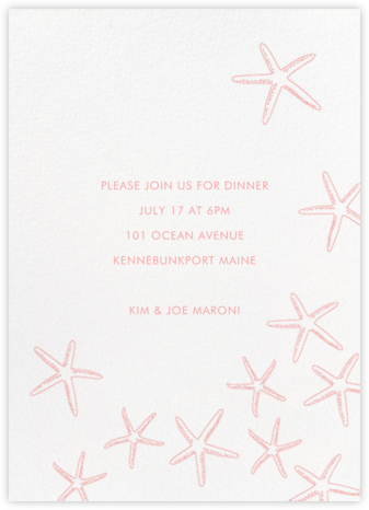 Starfish - Linda and Harriett - Summer Entertaining Invitations