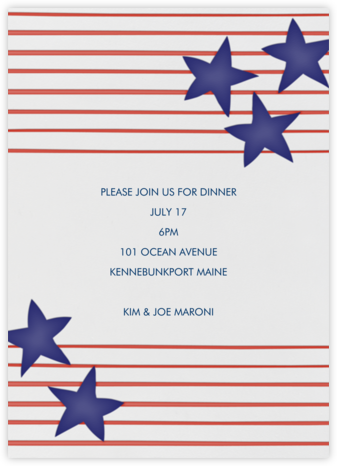 Stars and Stripes - Linda and Harriett - Online Party Invitations