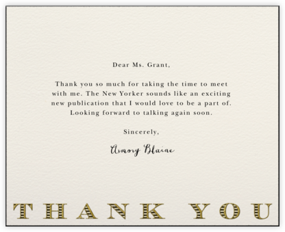 Striped Thank You (Black) - Paperless Post -