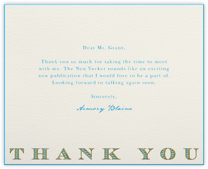 Striped Thank You (Blue) - Paperless Post