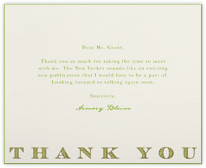 Striped Thank You (Green) - Paperless Post