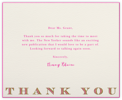 Striped Thank You (Hot Pink) - Paperless Post
