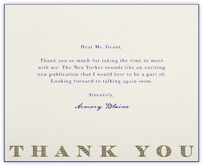Striped Thank You (Navy) - Paperless Post - Online thank you notes