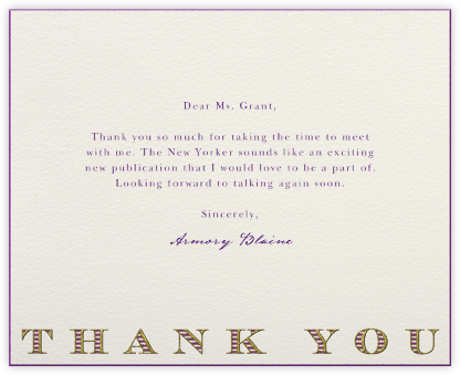 Striped Thank You (Purple) - Paperless Post