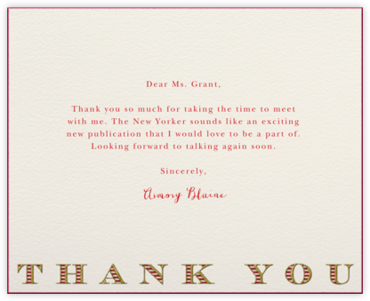 Striped Thank You (Red) - Paperless Post