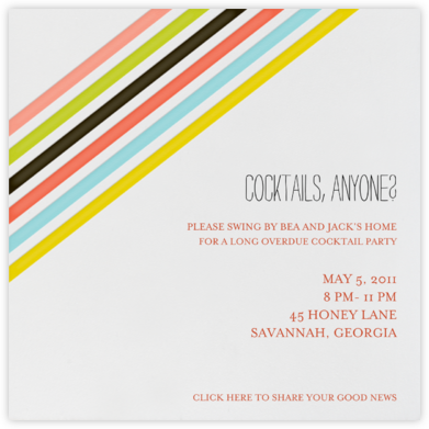 Stripes on Paper - Japanese Mix - Mr. Boddington's Studio - Invitations