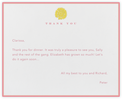 Sunflower Thank You - Paperless Post - Online thank you notes