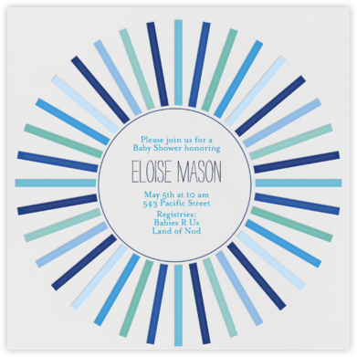 Sweden in the Summer - Blue - Mr. Boddington's Studio - Baby Shower Invitations