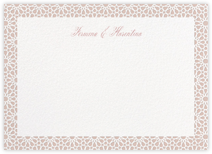 Rabat (Stationery) - Antique Pink - Paperless Post - Personalized Stationery