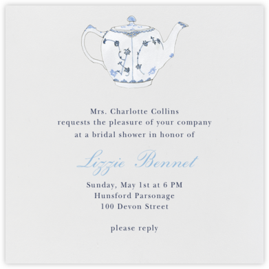 Tea Time - Paperless Post - Bridal shower invitations