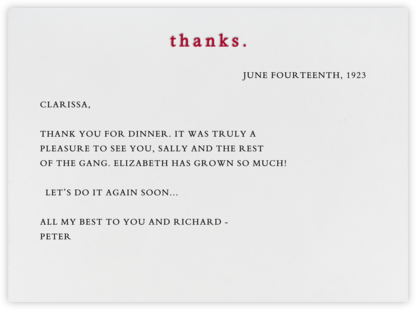 Thanks (Cardinal) - Paperless Post - Online thank you notes