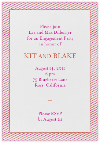 The Prepster - Coral - Mr. Boddington's Studio - Engagement party invitations