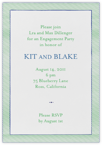The Prepster - Great Scot - Mr. Boddington's Studio - Engagement party invitations