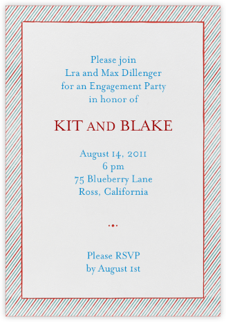 The Prepster - Sri Lanka - Mr. Boddington's Studio - Engagement party invitations
