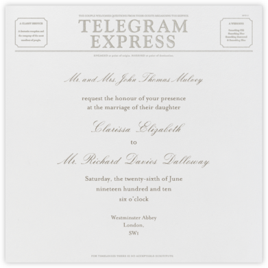 Travel - Ivory and Silver Telegram - Paperless Post -