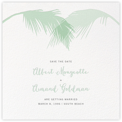 Tropical Palm (Save the Date) - Mint - Paperless Post - Save the dates