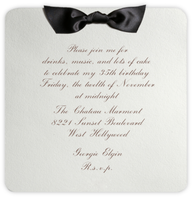 Tuxedo - Black - Paperless Post - Adult Birthday Invitations
