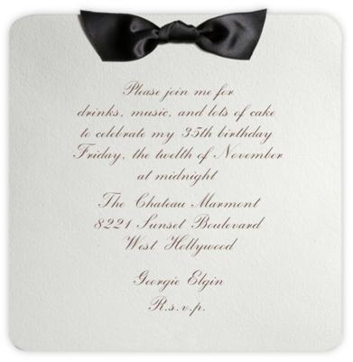 Tuxedo - Black - Paperless Post - Adult birthday invitations