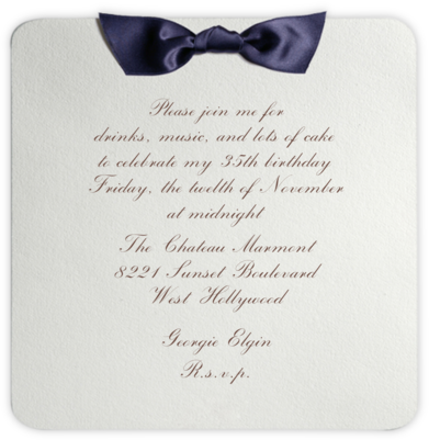Tuxedo - Blue - Paperless Post - Adult Birthday Invitations