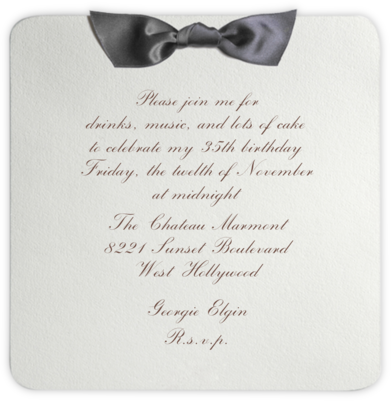 Tuxedo - Gray - Paperless Post - Adult Birthday Invitations