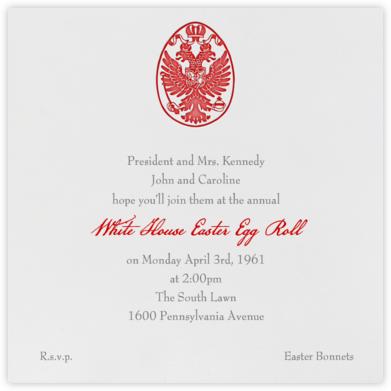 Ukrainian Egg - Red - Paperless Post -