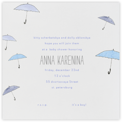 Umbrellas - Paperless Post - Baby Shower Invitations