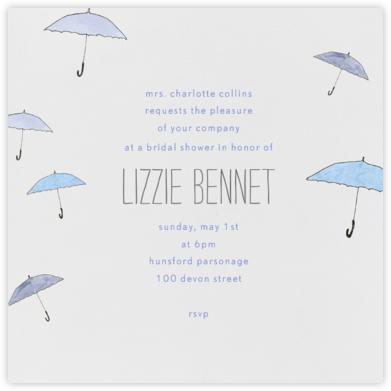 Umbrellas - Paperless Post - Bridal shower invitations