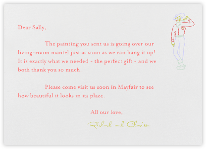 Vegas - Red and Green (Thank You) - Paperless Post - Wedding thank you cards