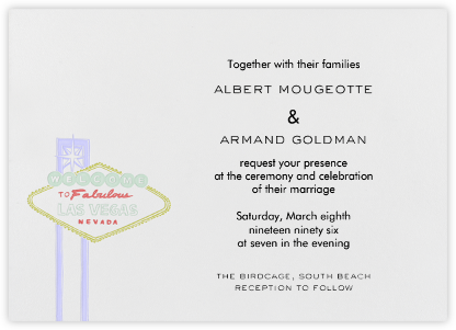 Vegas - Red and Green (Welcome Horizontal) - Paperless Post - Wedding Invitations