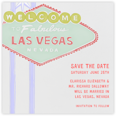 Vegas Welcome - Red and Green - Paperless Post - Save the dates