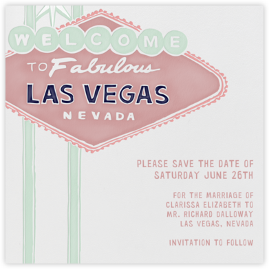 Vegas Welcome - Tea Rose - Paperless Post - Save the dates