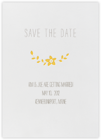 Vintage Flower Save The Date - Mustard | null