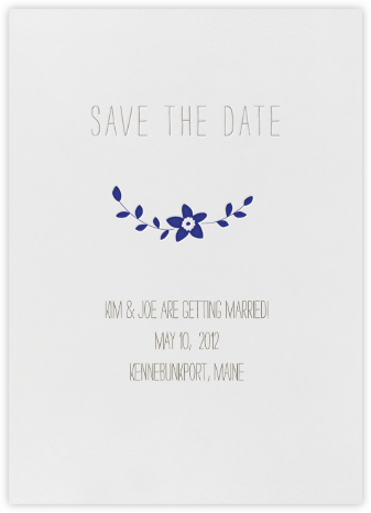 Vintage Flower Save the Date - Navy | null