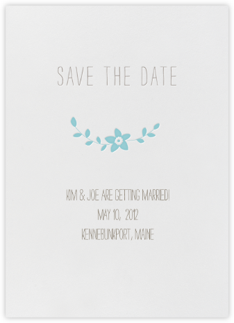 Vintage Flower Save the Date - Carribean - Linda and Harriett -