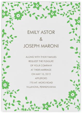 Vintage Flower - Meadow - Linda and Harriett - Wedding Invitations
