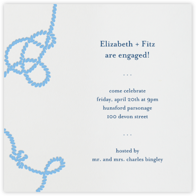 Wedding Knot (Ivory) - Paperless Post - Engagement party invitations