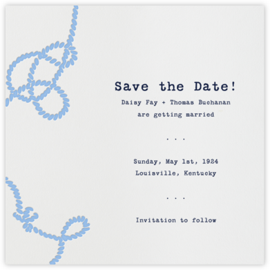 Wedding Knot (Ivory) - Paperless Post - Save the dates